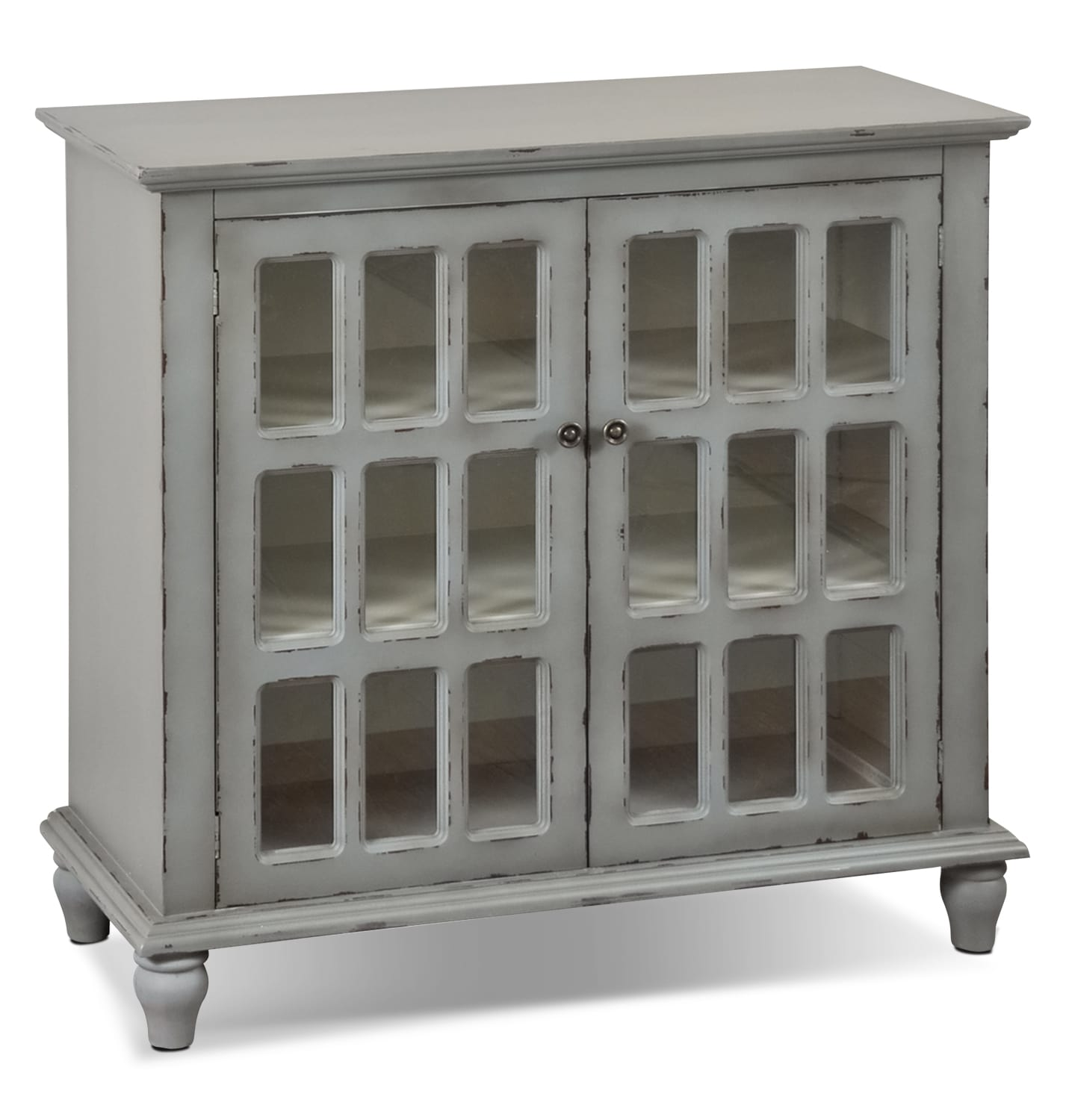 bray accent cabinet antique grey