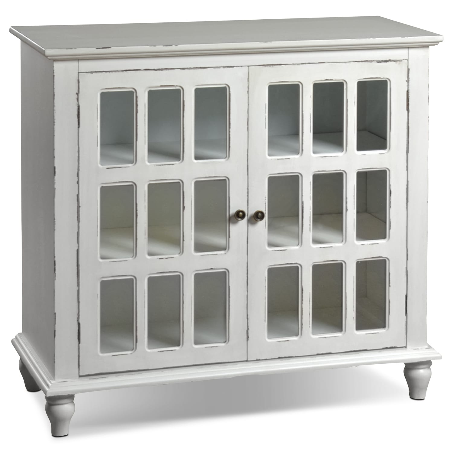 Sarah Check Hearth Cabinet: Bray Accent Cabinet - Antique Ivory
