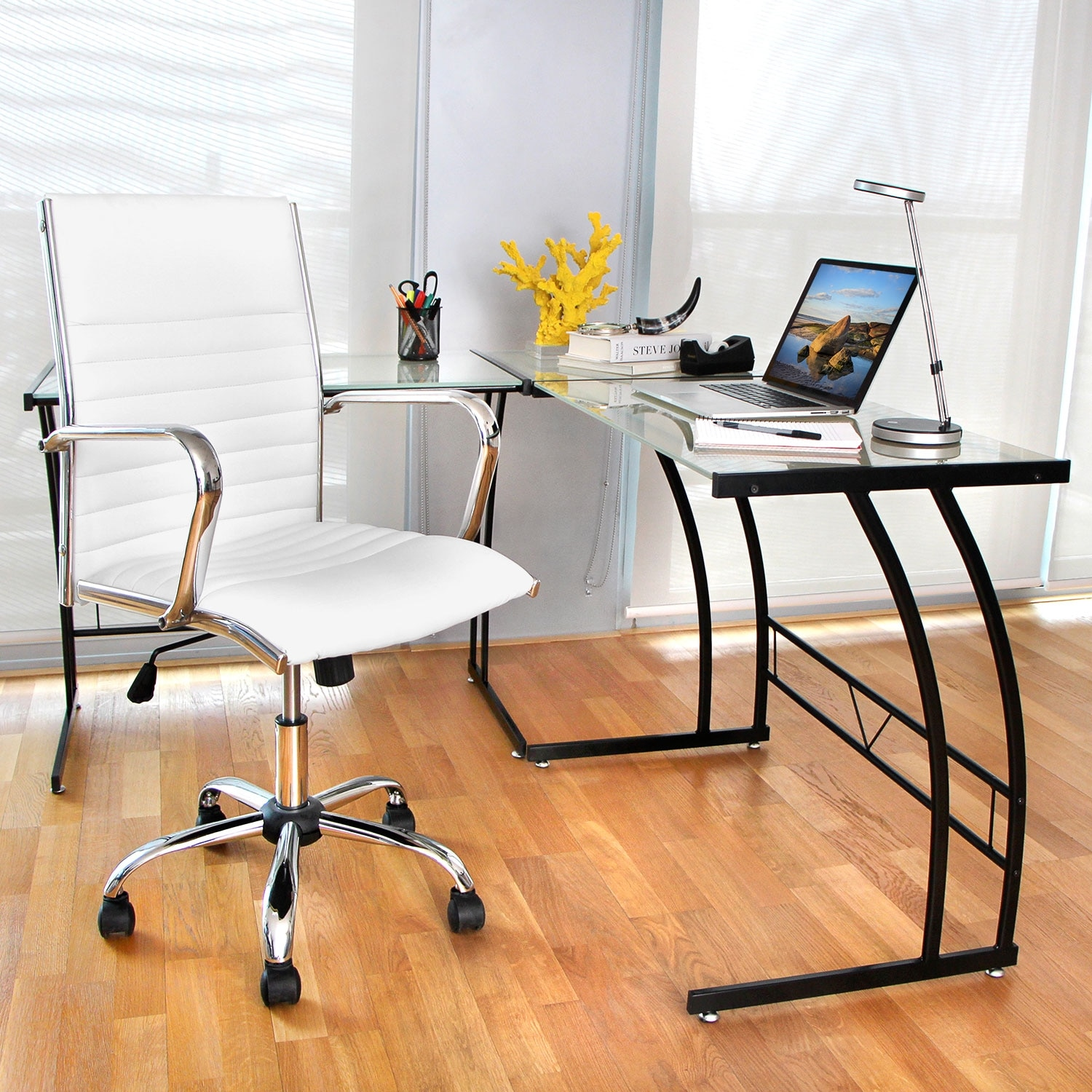 Director office arm chair white value city furniture - Value city office desk ...