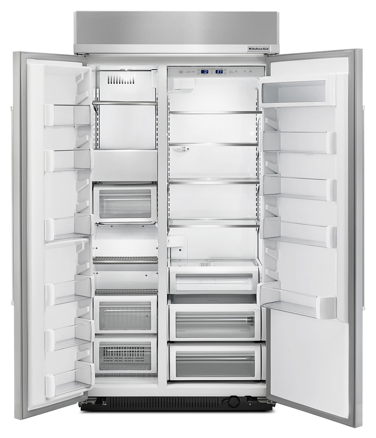 KitchenAid 25.5 Cu. Ft. Built-In Side-by-Side Refrigerator
