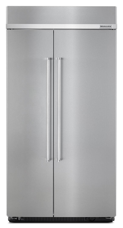 Réfrigérateur encastré KitchenAid de 25,5 pi³ à compartiments juxtaposés – acier inoxydable
