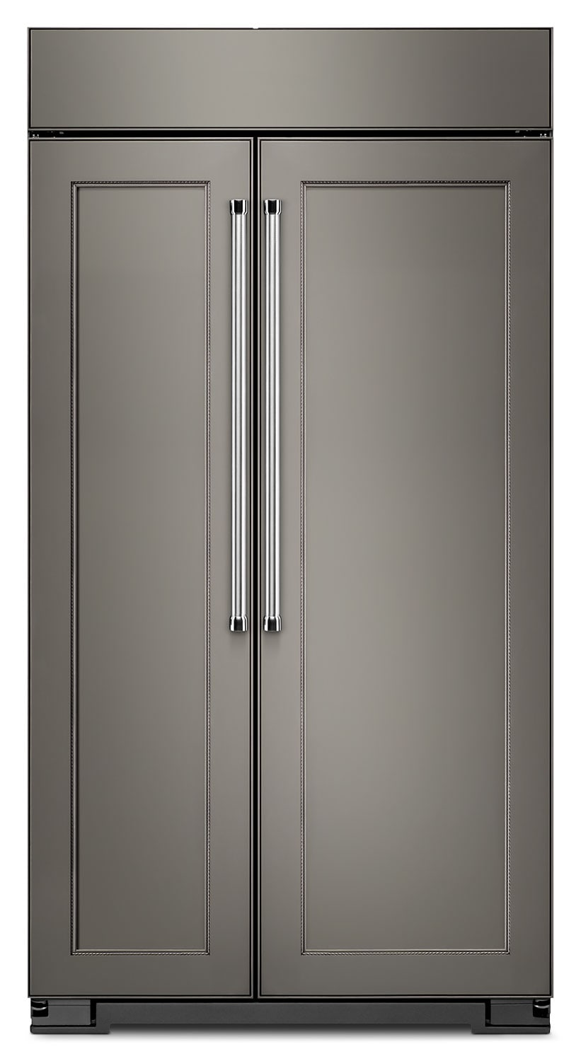 Refrigerators and Freezers - KitchenAid 25.5 Cu. Ft. Built-In Side-by-Side Refrigerator - Panel Ready