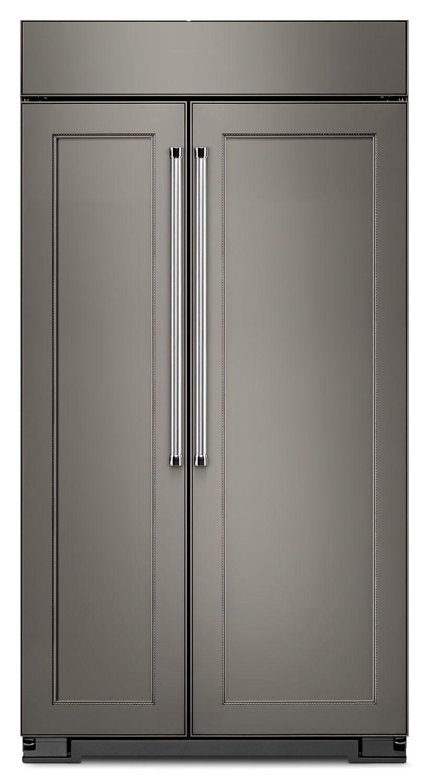 Réfrigérateur encastré KitchenAid de 25,5 pi³ à compartiments juxtaposés – panneau personnalisable