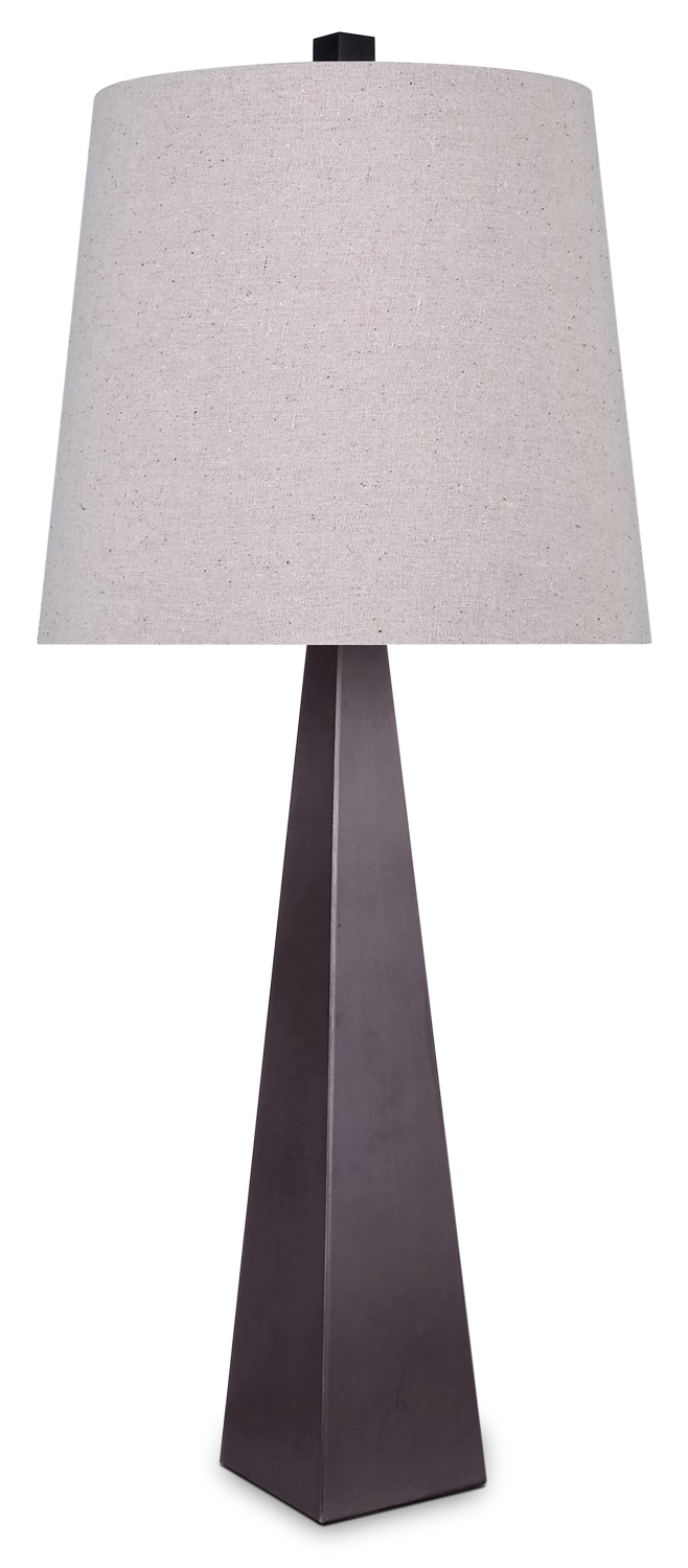 Home Accessories - Oil-Rubbed Bronze Metal Table Lamp