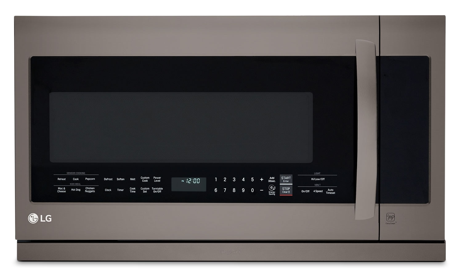 Cooking Products - LG Appliances Black Stainless Steel Over-the-Range Microwave (2.2 Cu. Ft.) - LMV2257BD