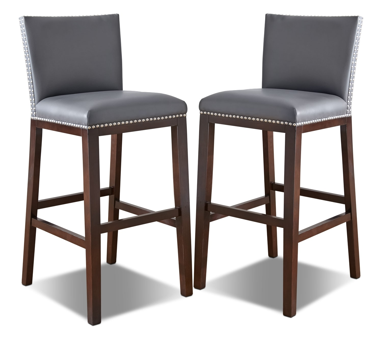 Dining Room Furniture - Tiffany Bar-Height Dining Chair, Set of 2 – Grey