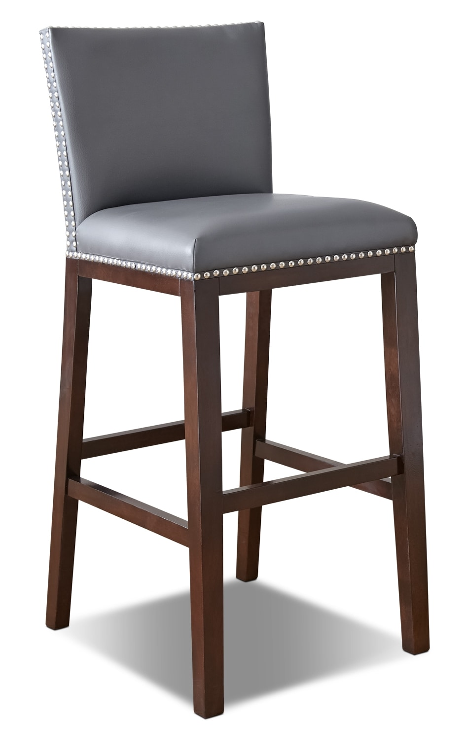 Dining Room Furniture - Tiffany Bar-Height Dining Chair – Grey