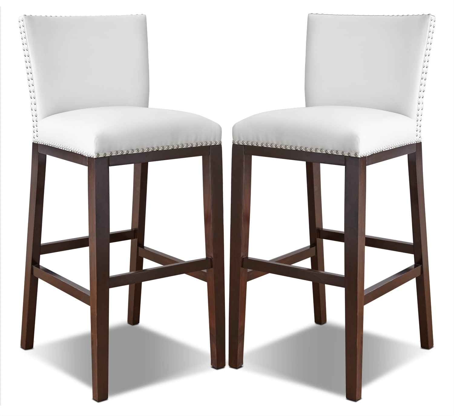 Dining Room Furniture - Tiffany Bar-Height Dining Chair, Set of 2 – White