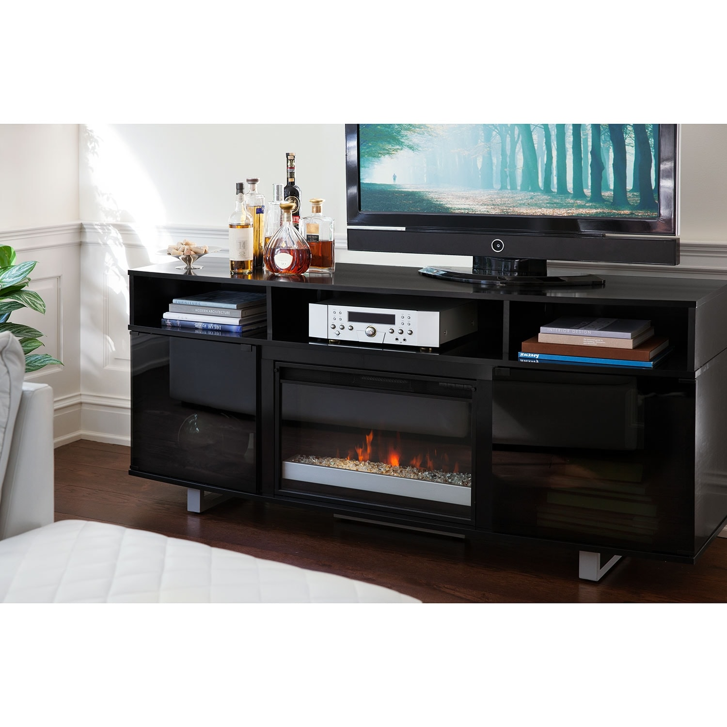 pacer black entertainment wall units 72 contemporary