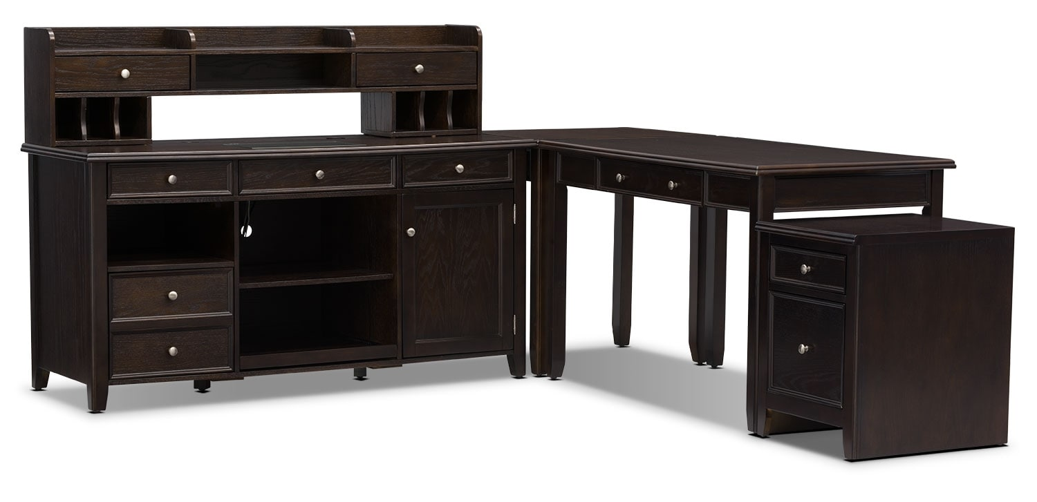 Home Office Furniture - York 5-Piece Desk Package