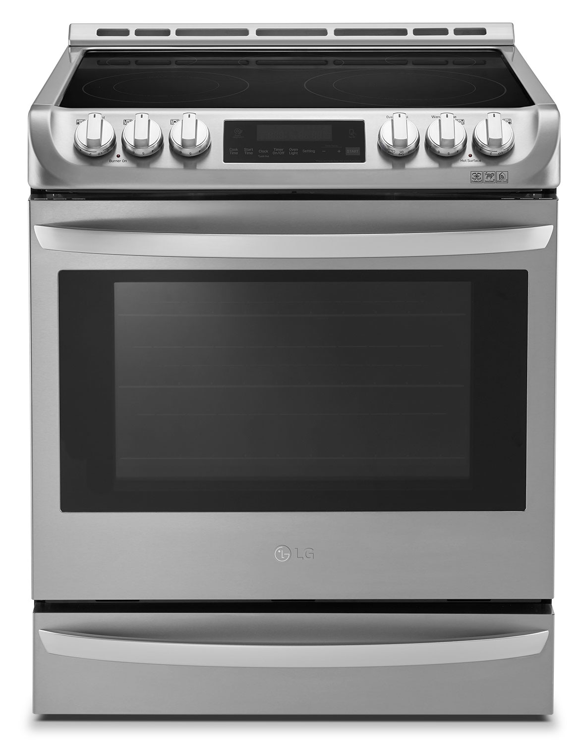 Cooking Products - LG Appliances Slide-In Stainless Steel Electric Convection Range (6.3 Cu. Ft.) - LSE5613ST