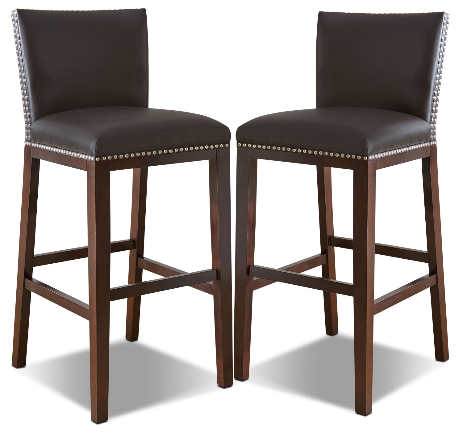 Tiffany Bar Height Dining Chair Set Of 2 Brown United