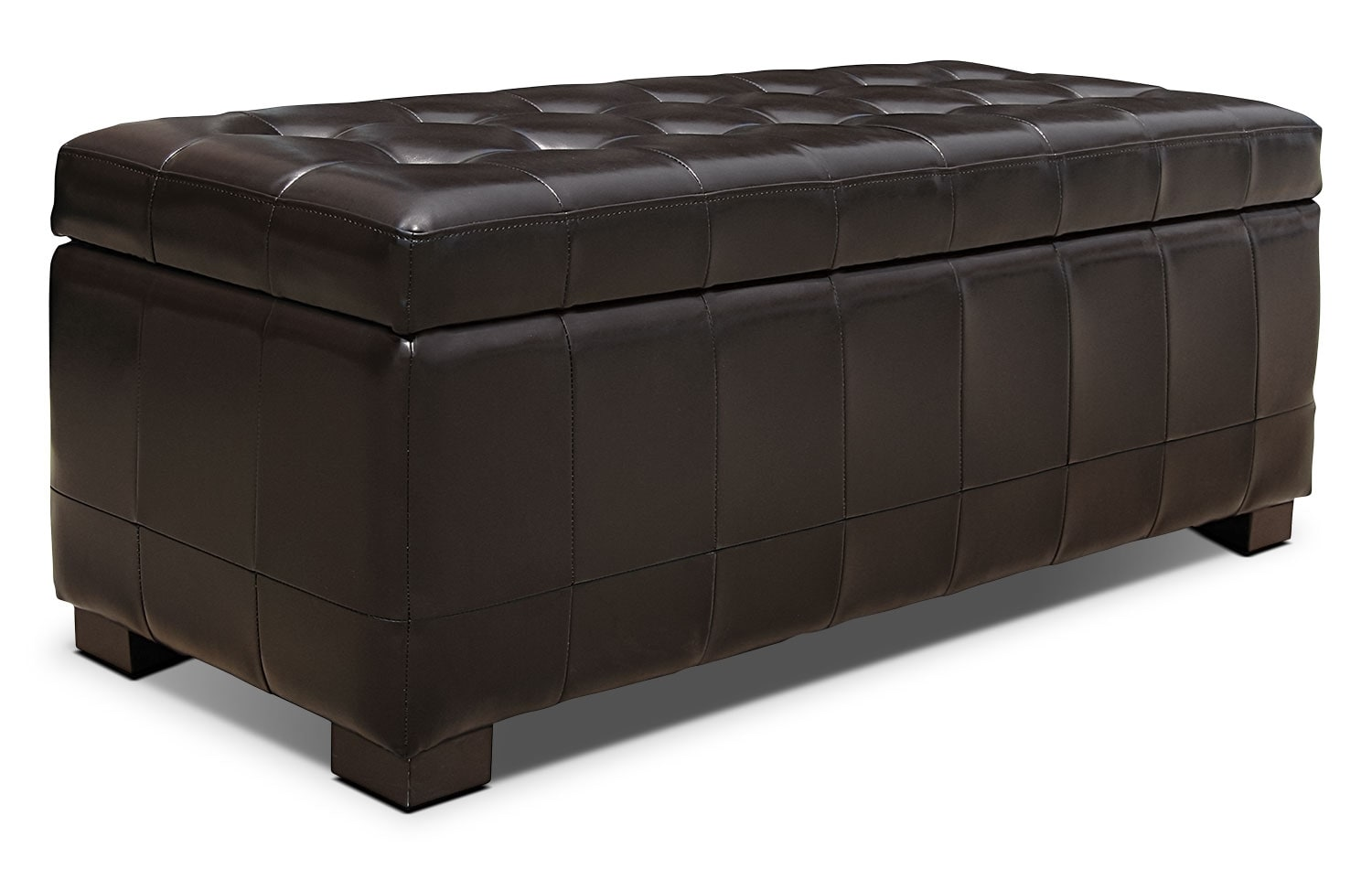 jaidyn storage ottoman brown the brick. Black Bedroom Furniture Sets. Home Design Ideas