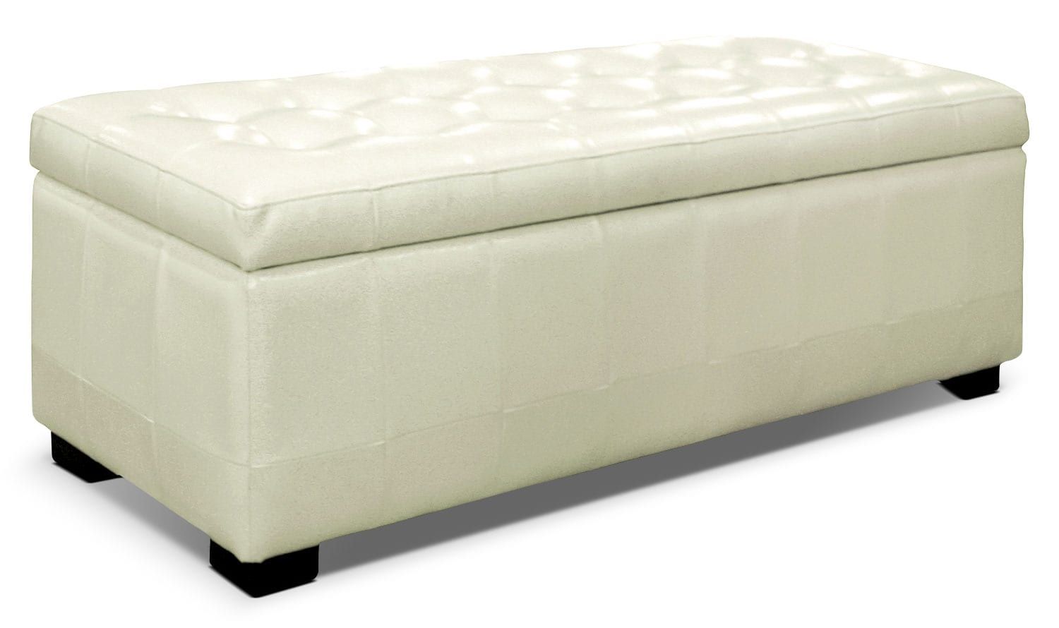 jaidyn storage ottoman – white  the brick - hover to zoom