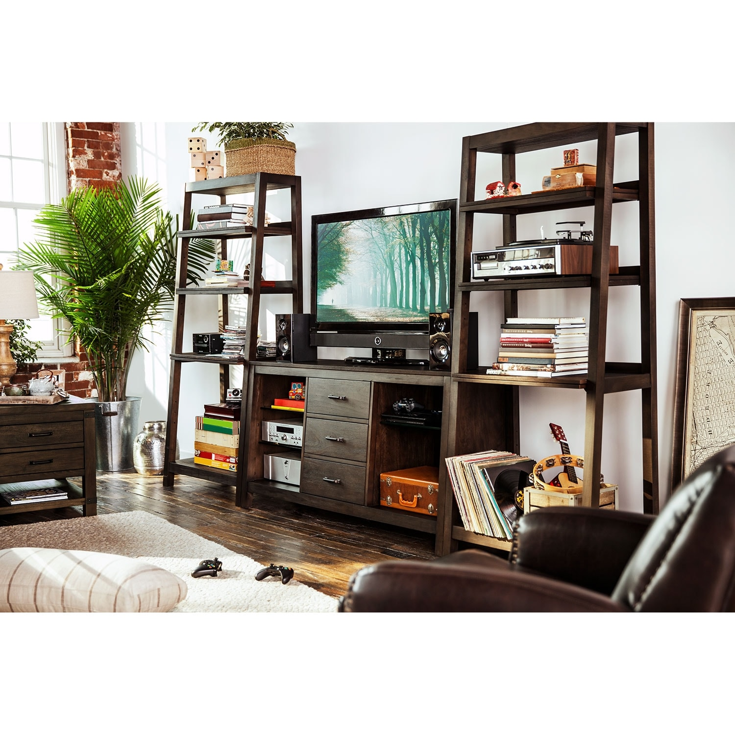 Greenpoint 3 Pc Entertainment Wall Unit