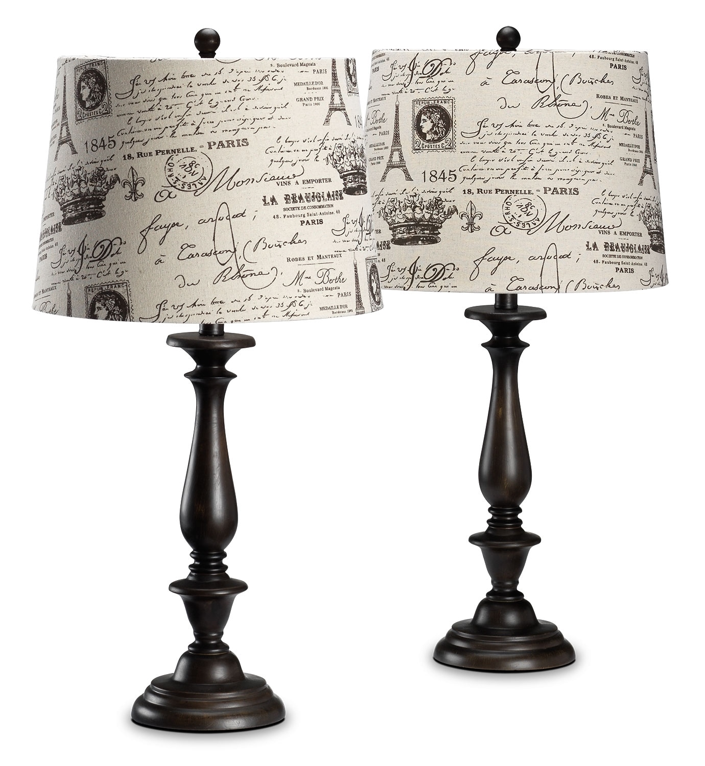 Home Accessories - Isabelle 2-Pack Table Lamps