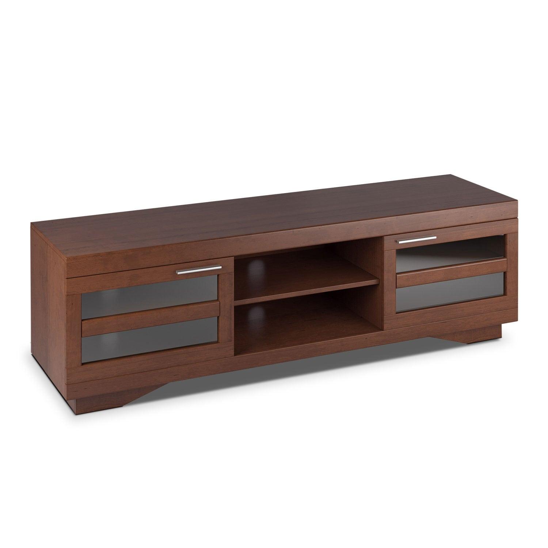 """Entertainment Furniture - Granville 66"""" TV Stand -  Cinnamon"""