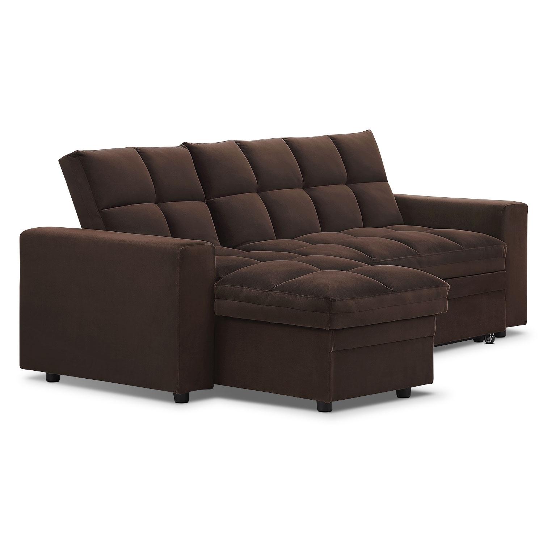 Metro 2 Pc Chaise Sofa Bed W Storage Value City Furniture