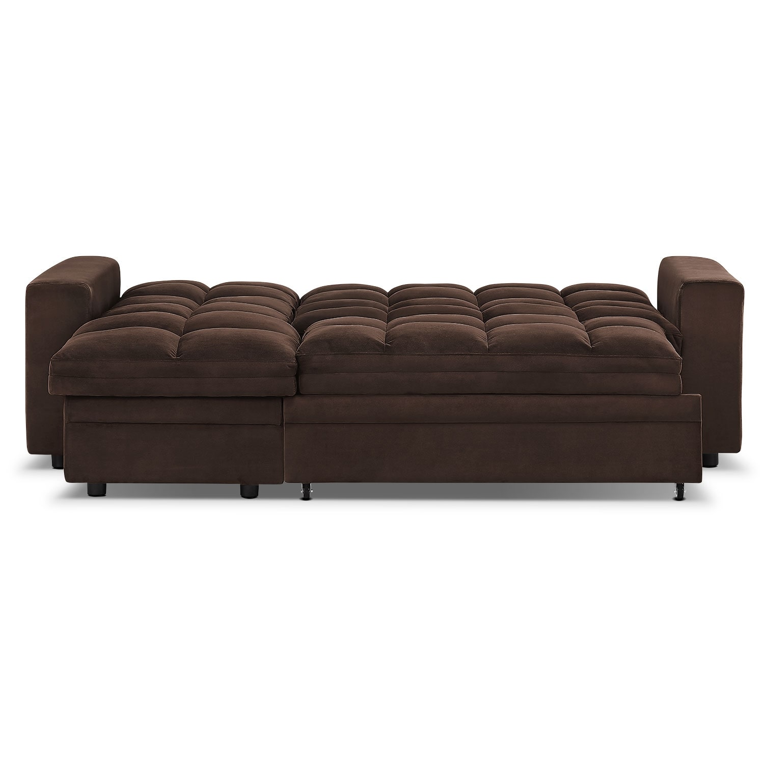 Metro 2 pc chaise sofa bed w storage american for Duke sectional sofa bed w storage