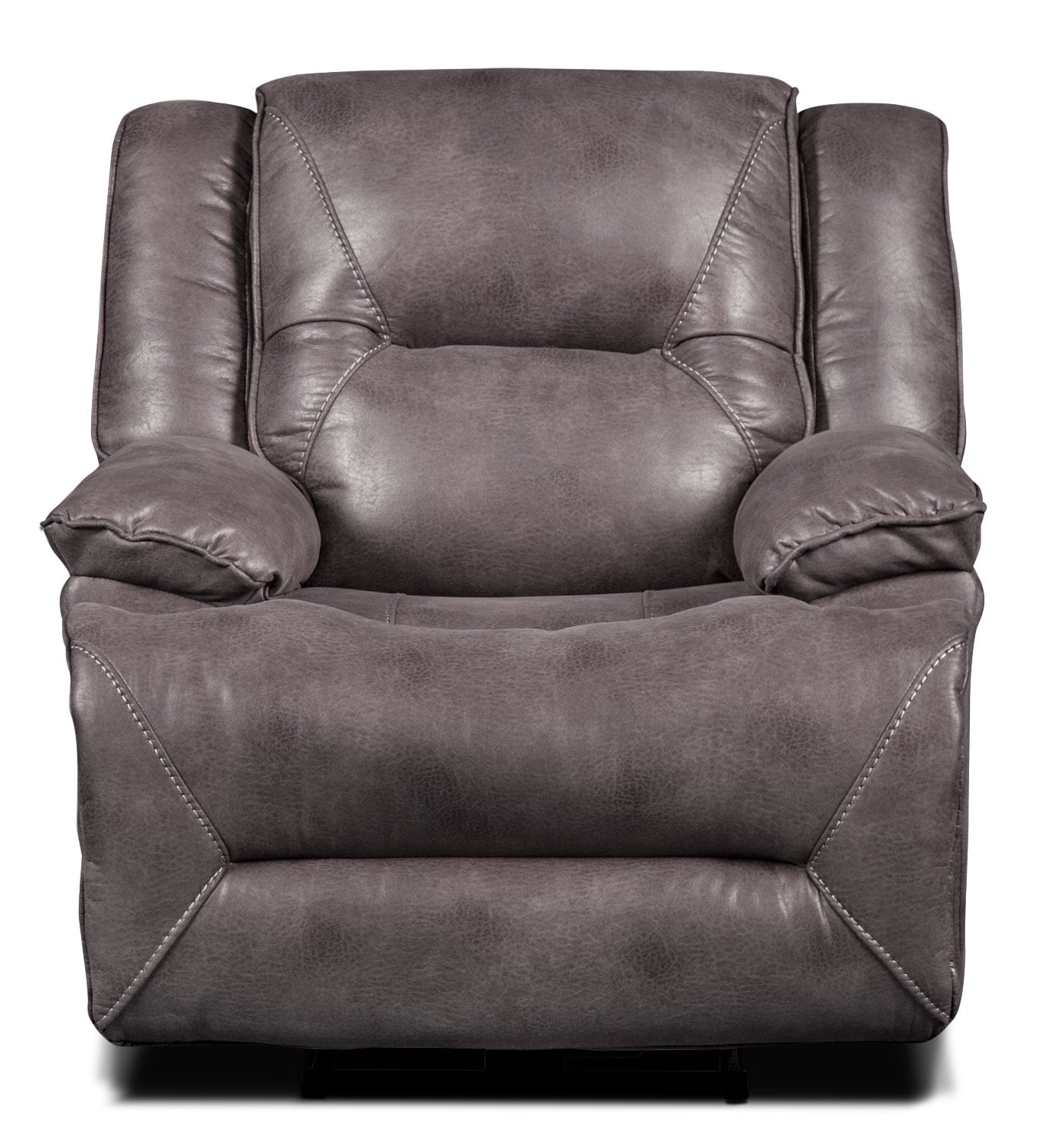 Lancer Faux Suede Power Reclining Chair Grey The Brick