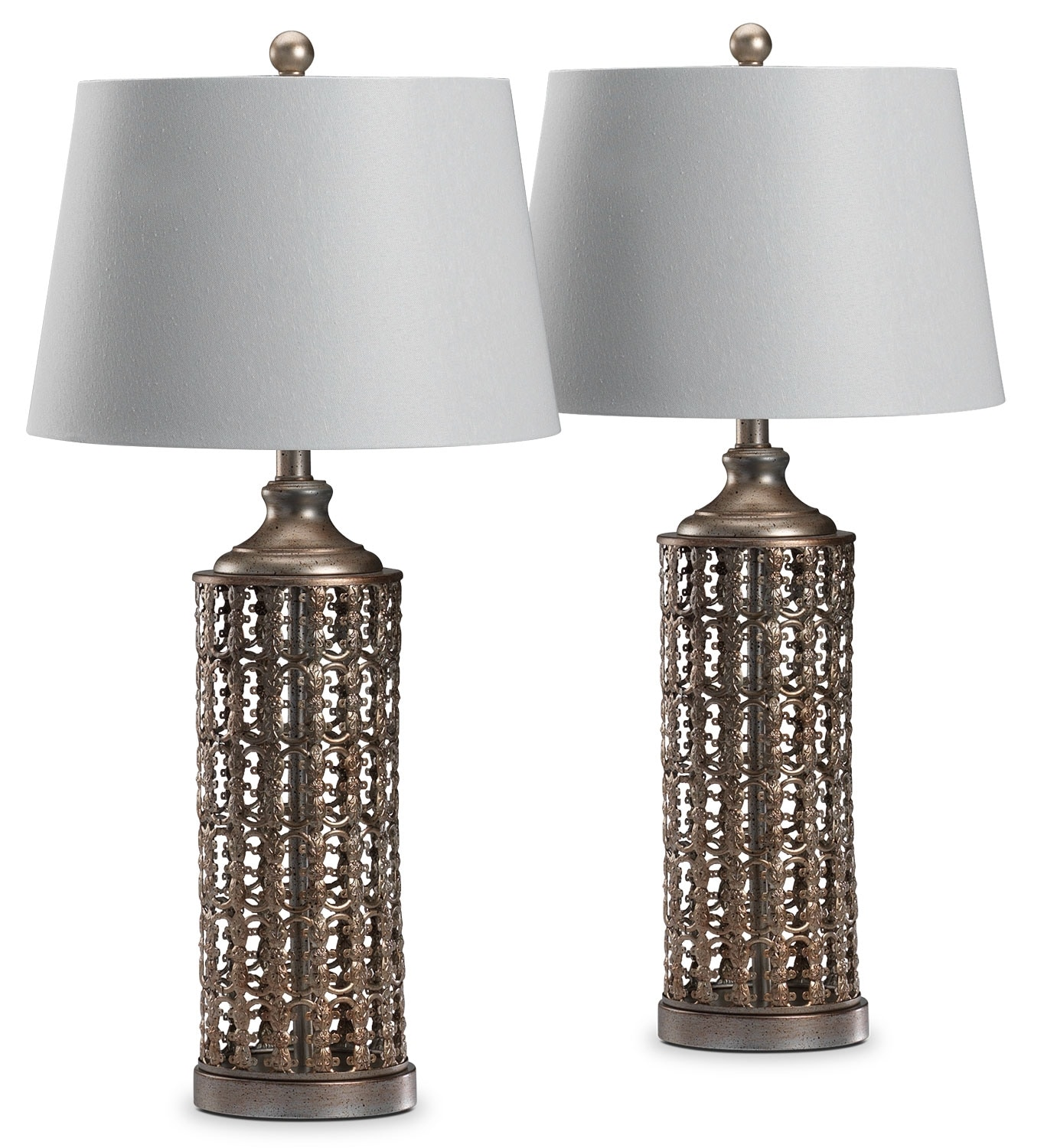 Accent and Occasional Furniture - Aziz 2-Pack Table Lamps