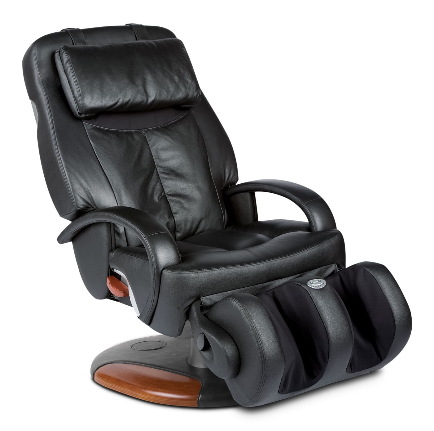 Living Room Furniture - Human Touch® ThermoStretch® Massage Chair - Black