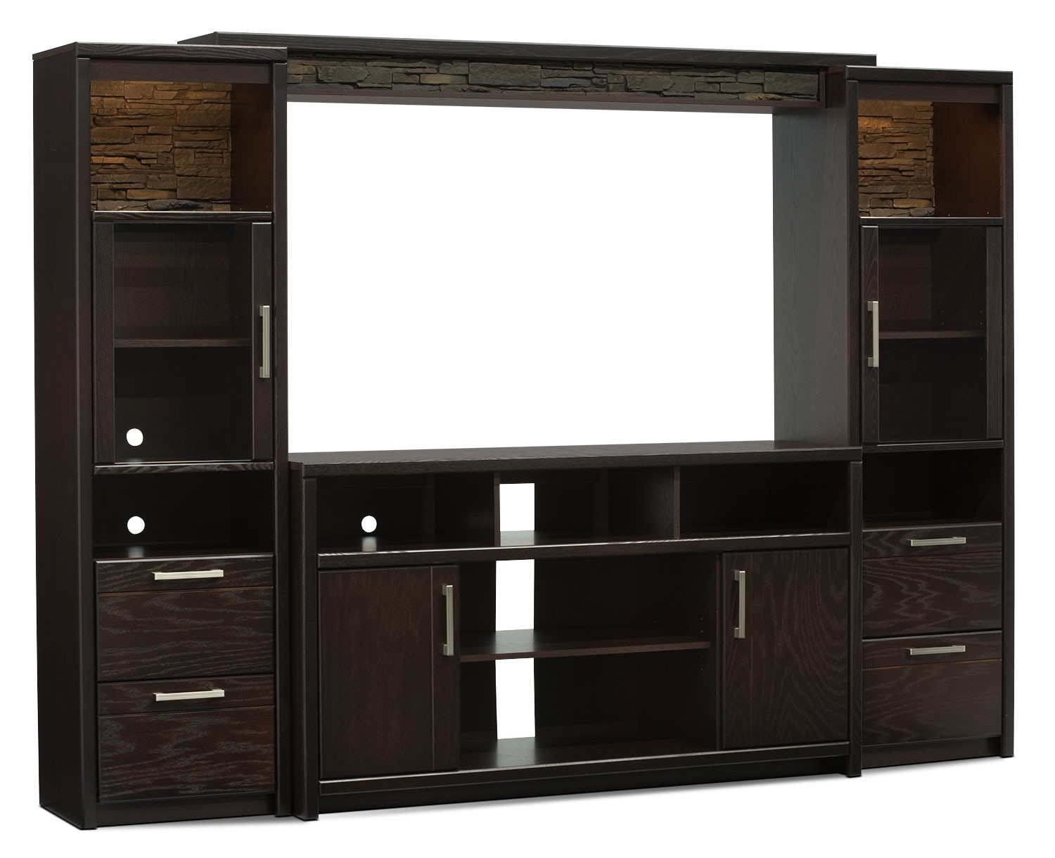 "Entertainment Furniture - Camden 4-Piece Entertainment Centre with 60"" TV Opening"