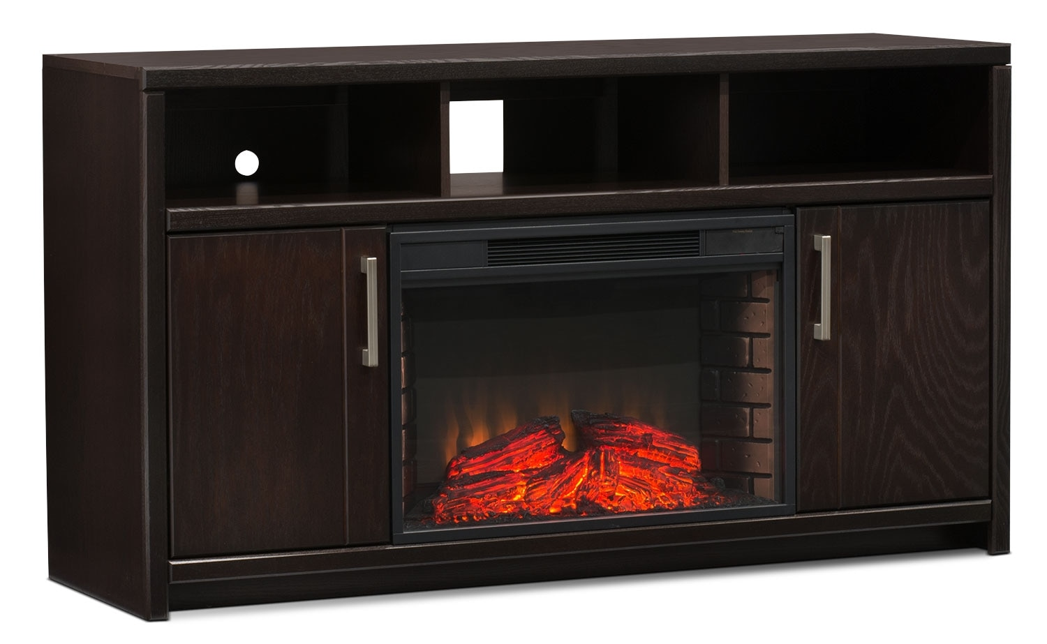 "Camden 60"" TV Stand with Log Firebox"