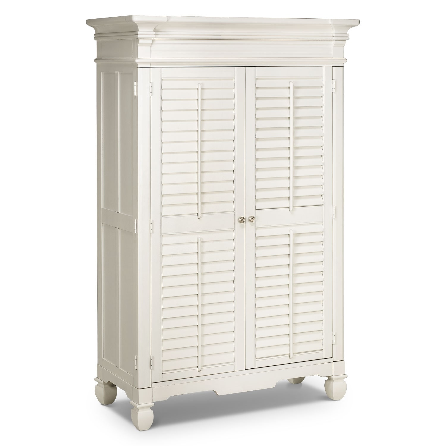 [Plantation Cove White Armoire]