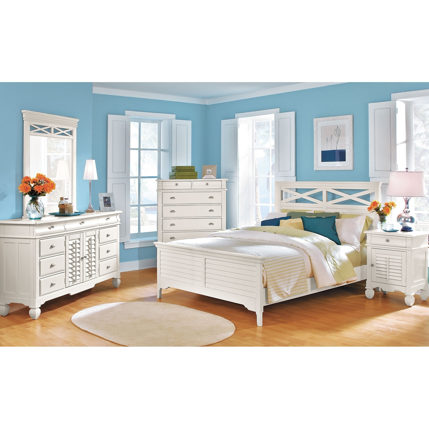 Plantation Cove Door Nightstand White Value City Furniture