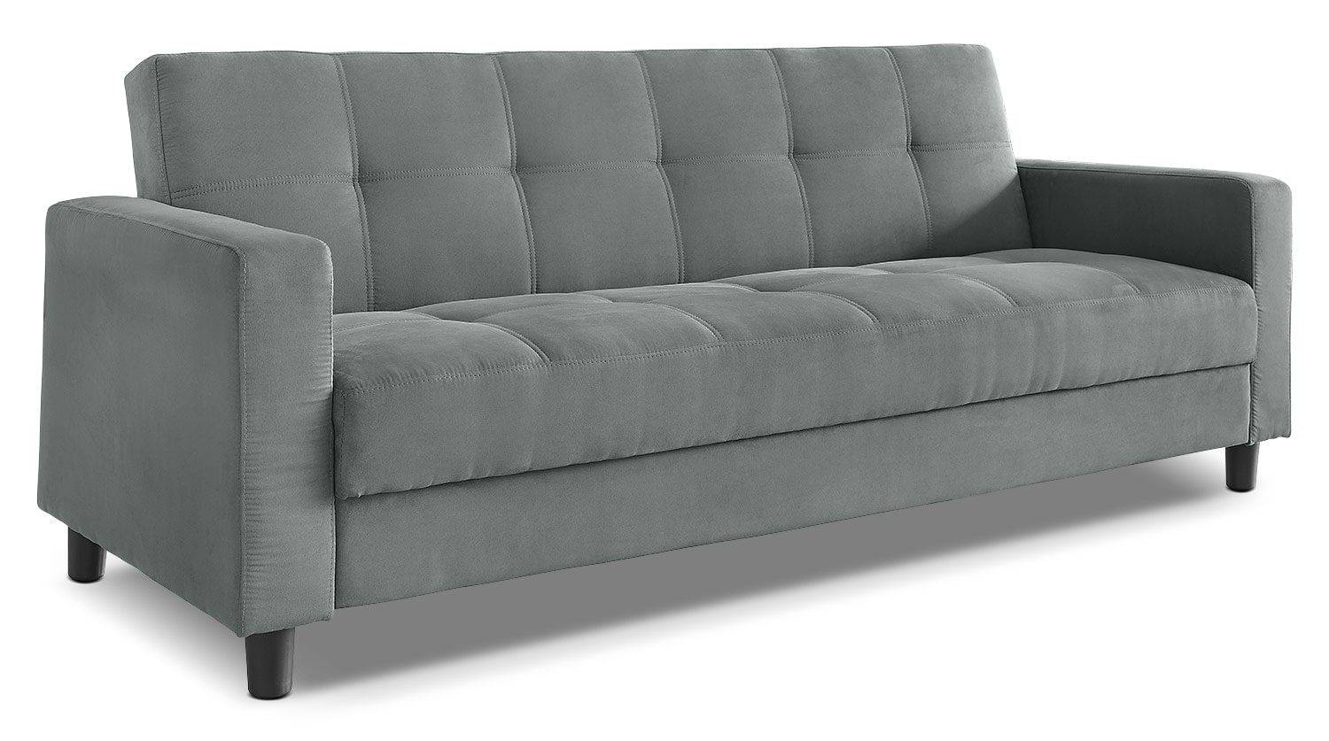 Living Room Furniture - Raeburn Convertible Sofa - Grey