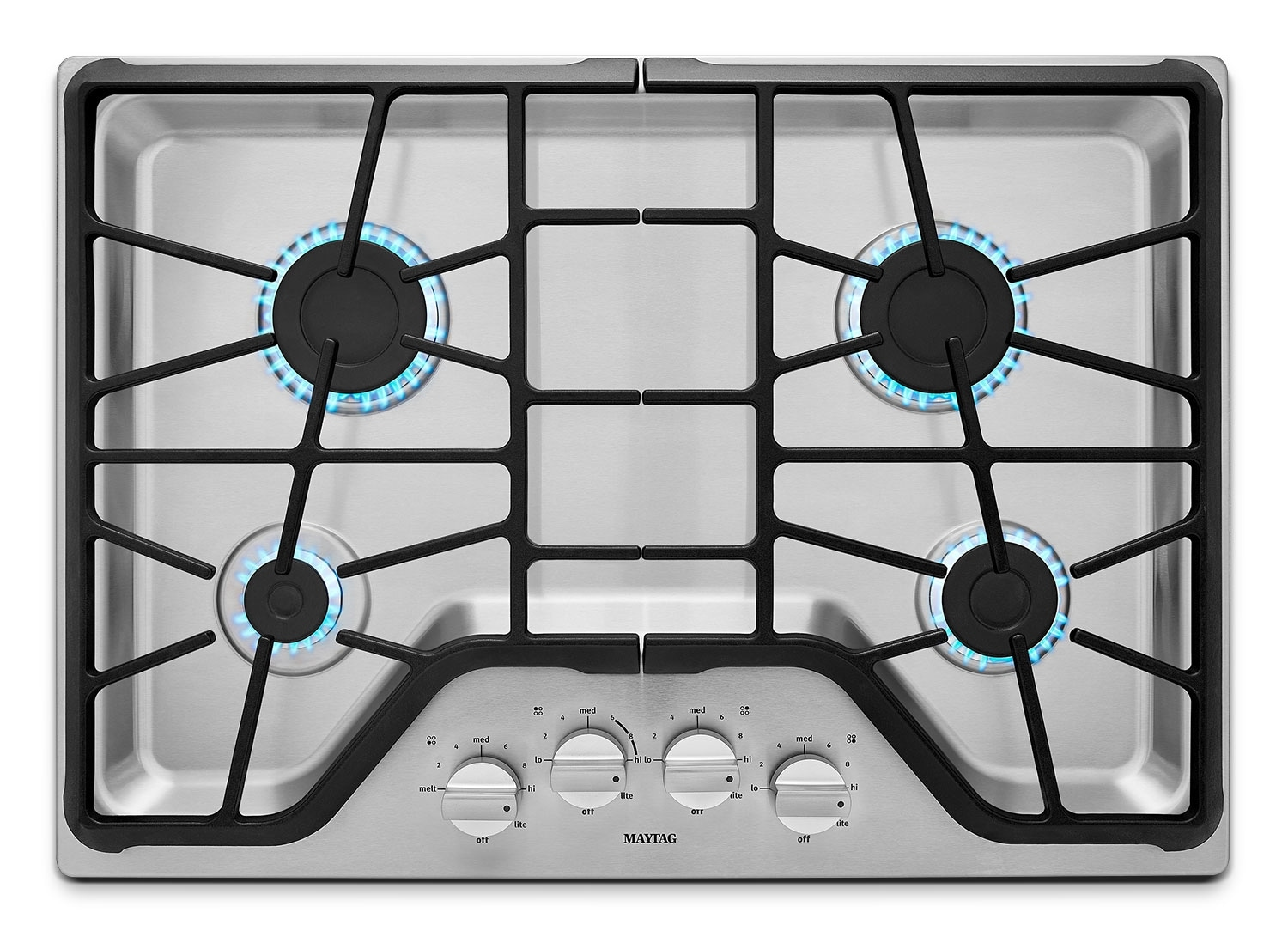 "Cooking Products - Maytag 30"" 4-Burner Gas Cooktop – Stainless Steel"