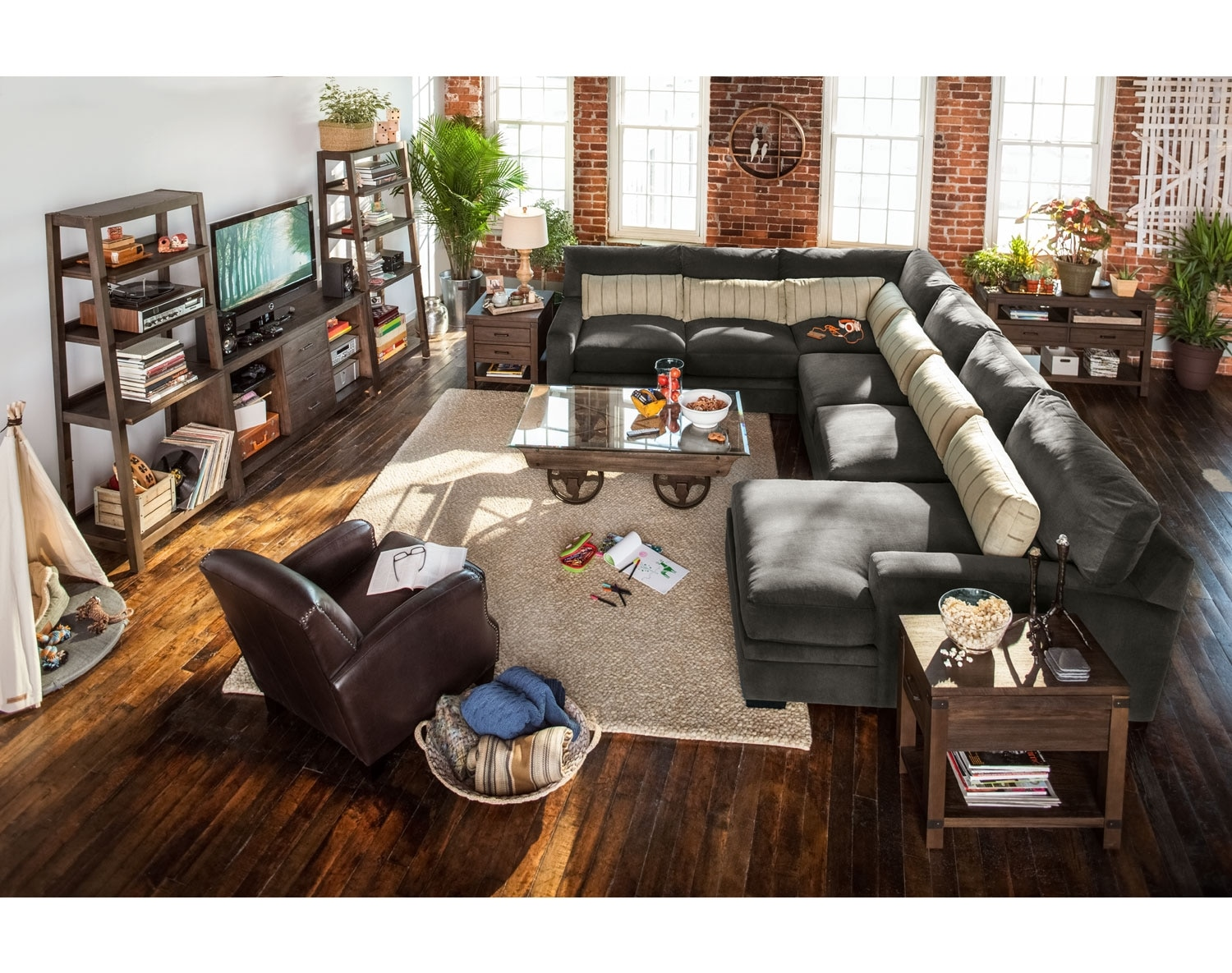 [The Ventura Charcoal Sectional Collection]