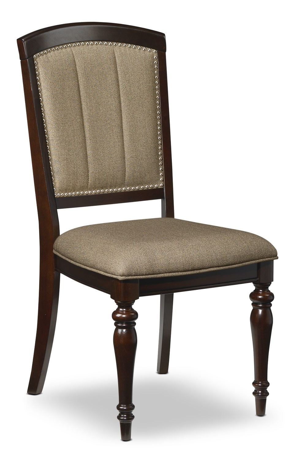 Thoreaux side chair dark cherry leon 39 s for Cherry dining room chairs
