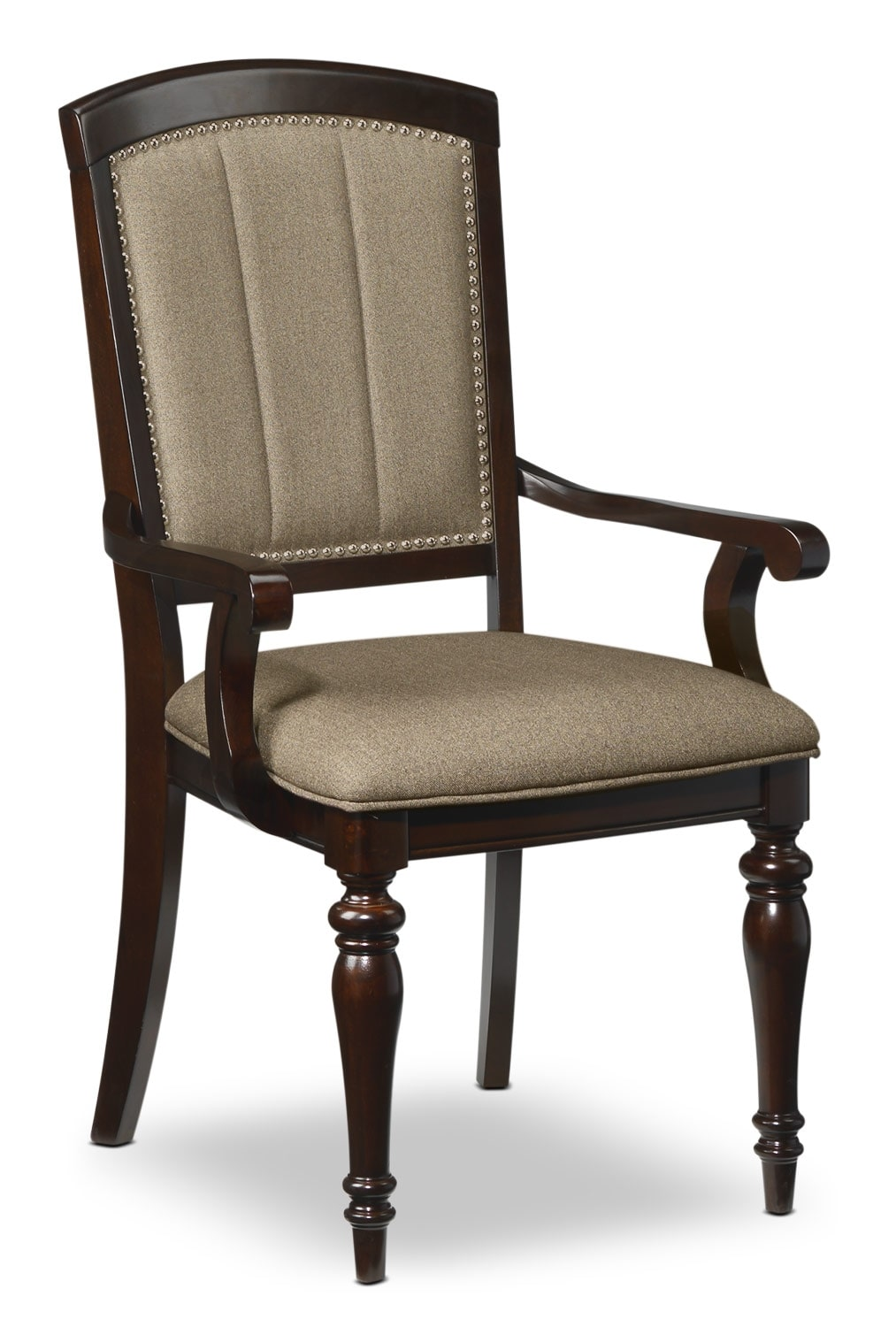 Thoreaux arm chair dark cherry leon 39 s for Cherry dining room chairs