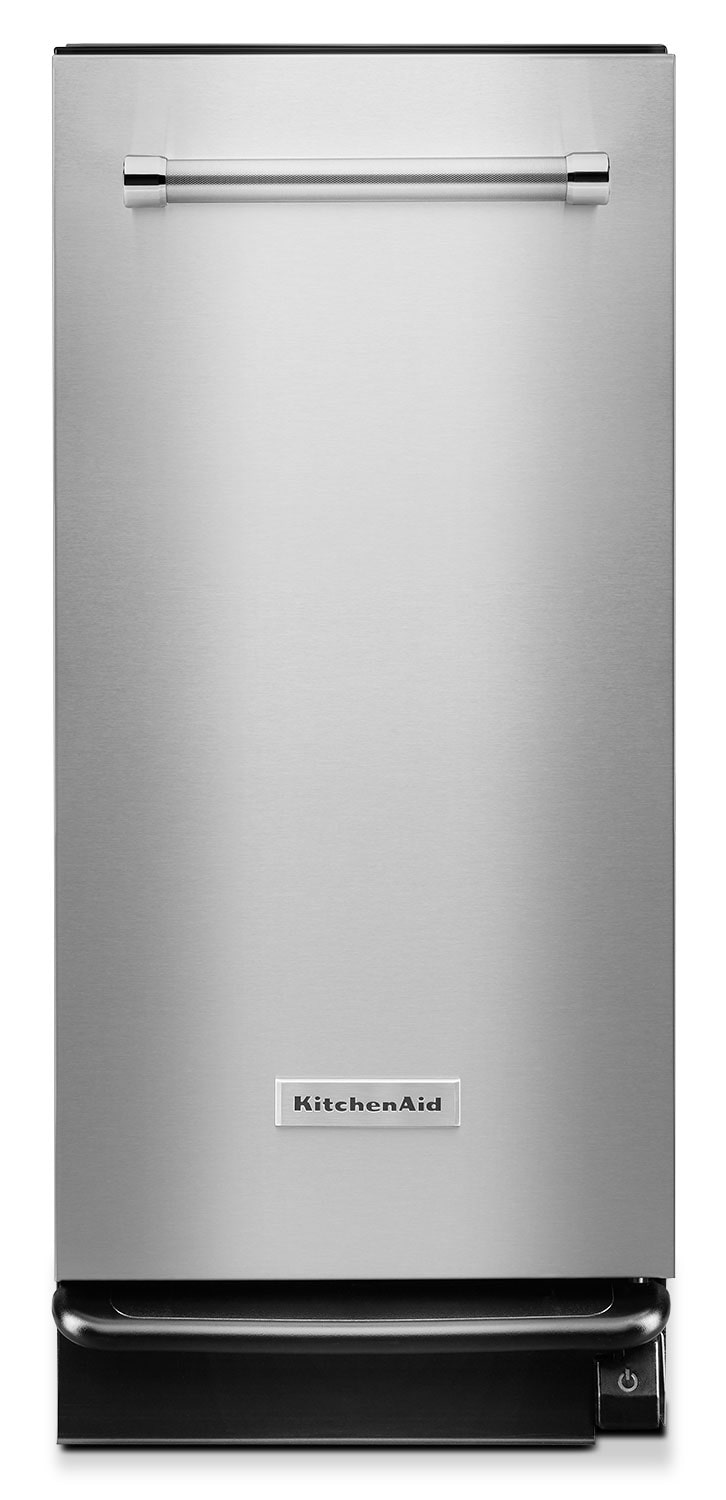 Clean-Up - KitchenAid 1.4 Cu. Ft. Built-In Trash Compactor - Stainless Steel
