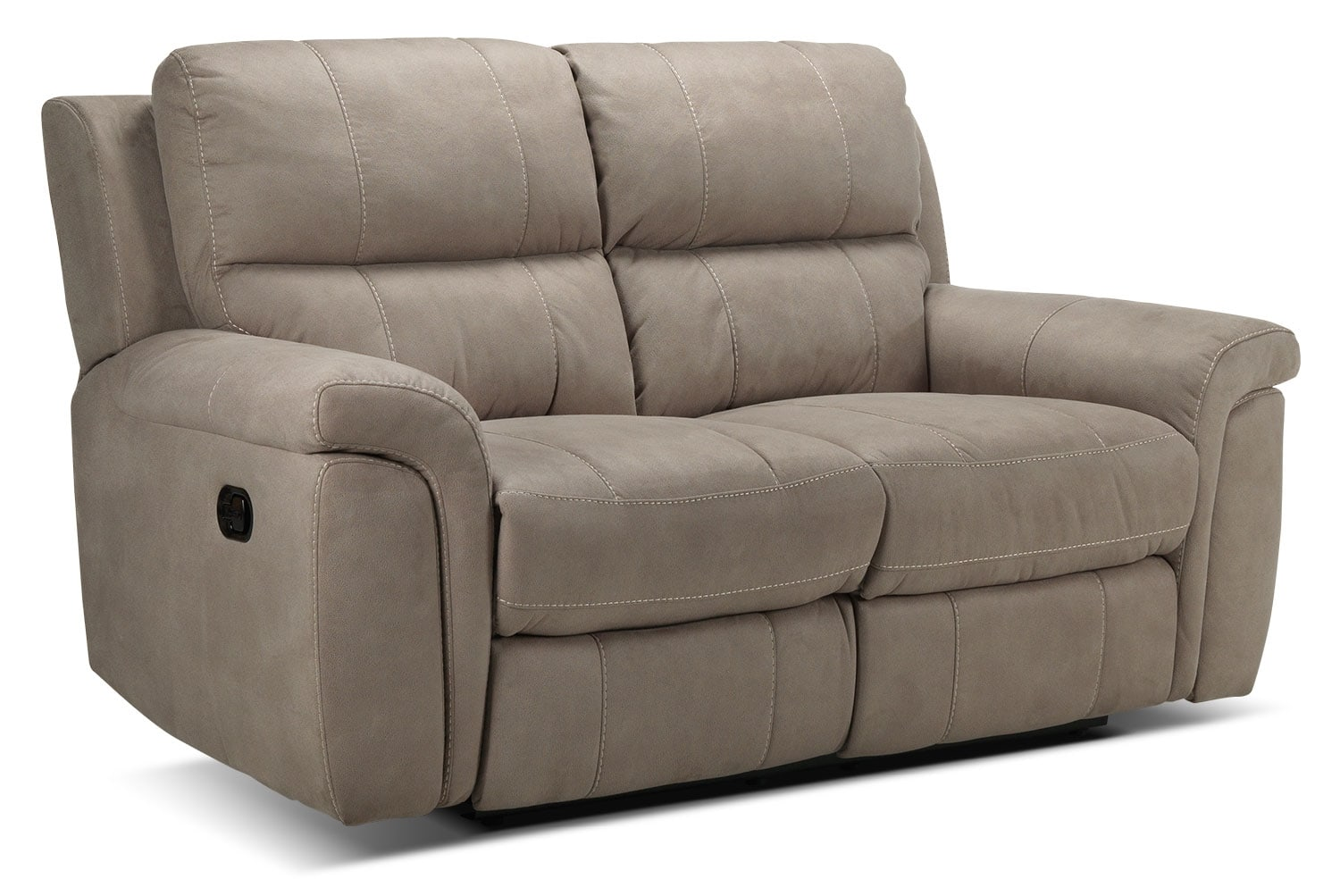 Living Room Furniture - Roarke Reclining Loveseat - Silver Grey