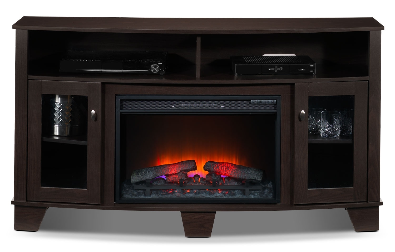 Lasalle Fireplace TV Stand - Espresso | Leon's