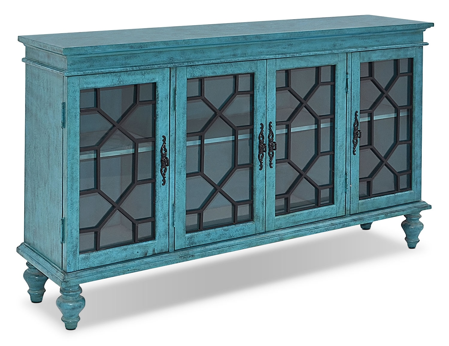 Accent and Occasional Furniture - Rigolet Large Accent Cabinet – Blue
