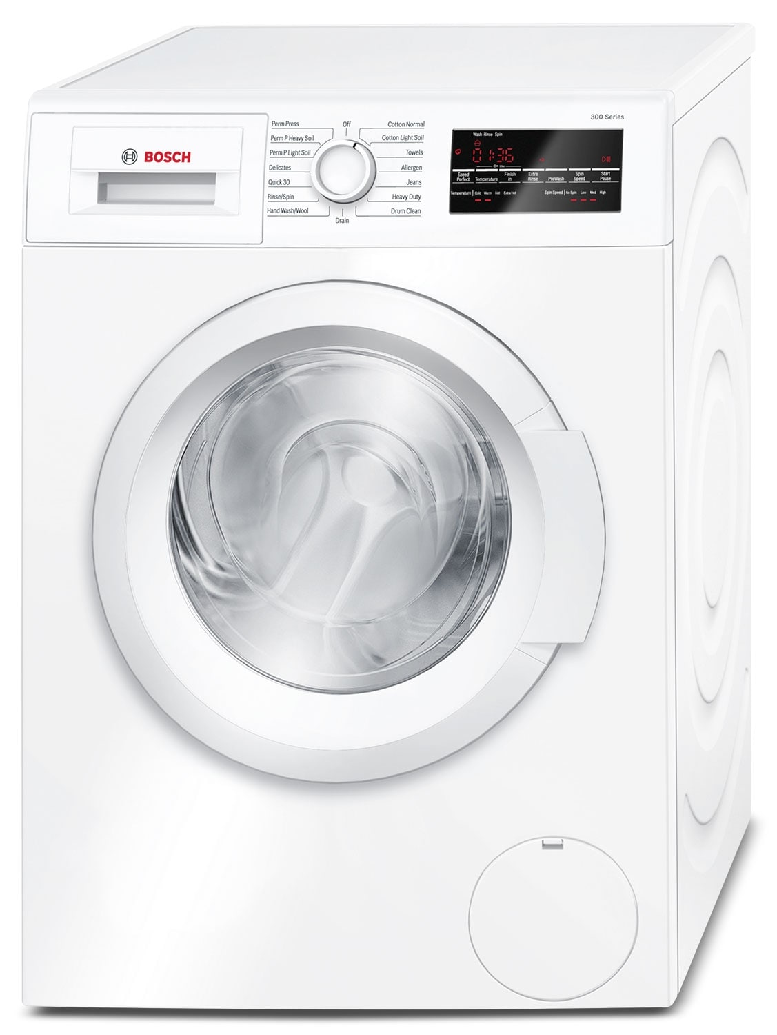 Washers and Dryers - Bosch White Front-Load Washer (2.2 Cu. Ft.) - WAT28400UC