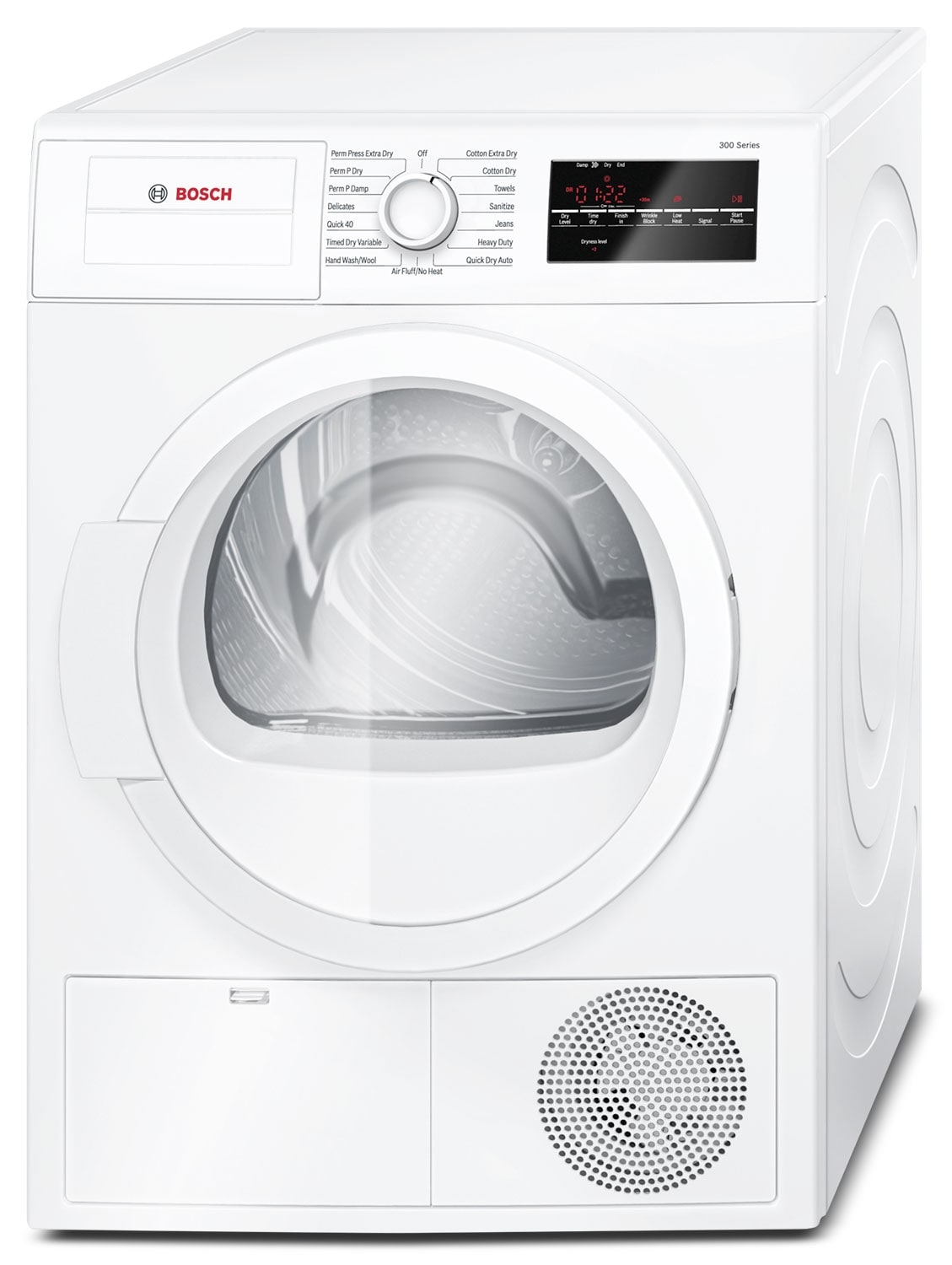 Washers and Dryers - Bosch White Electric Dryer (4 Cu. Ft.) - WTG86400UC
