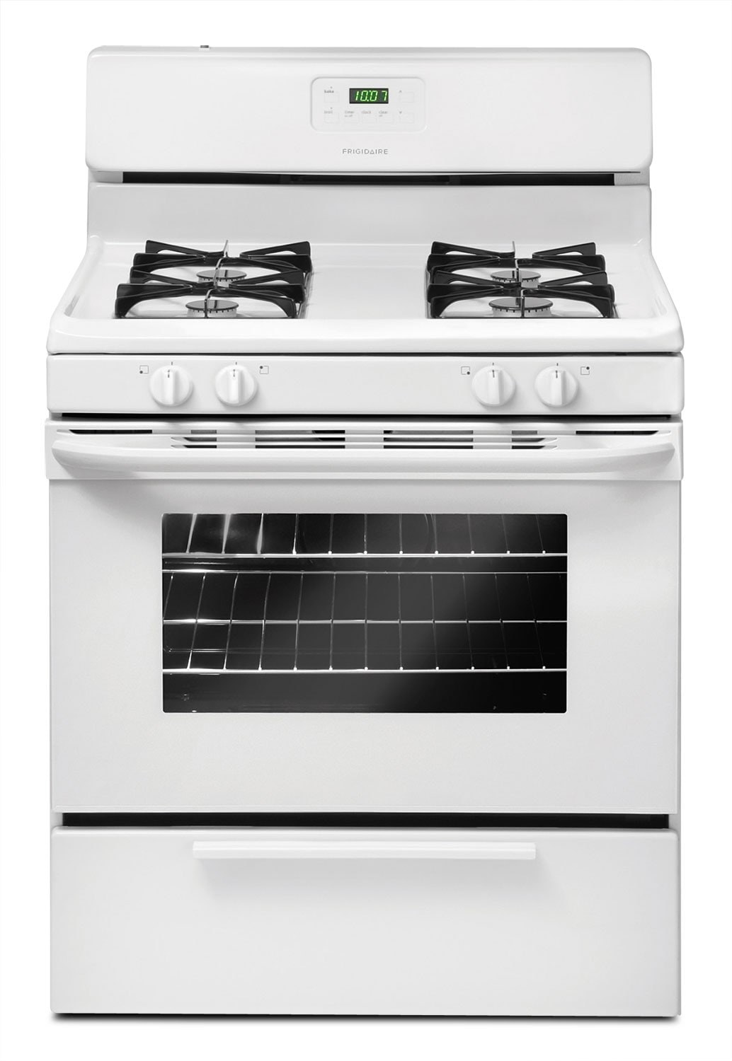 Cooking Products - Frigidaire White Freestanding Gas Range (4.2 Cu. Ft.) - CFGF3017LW