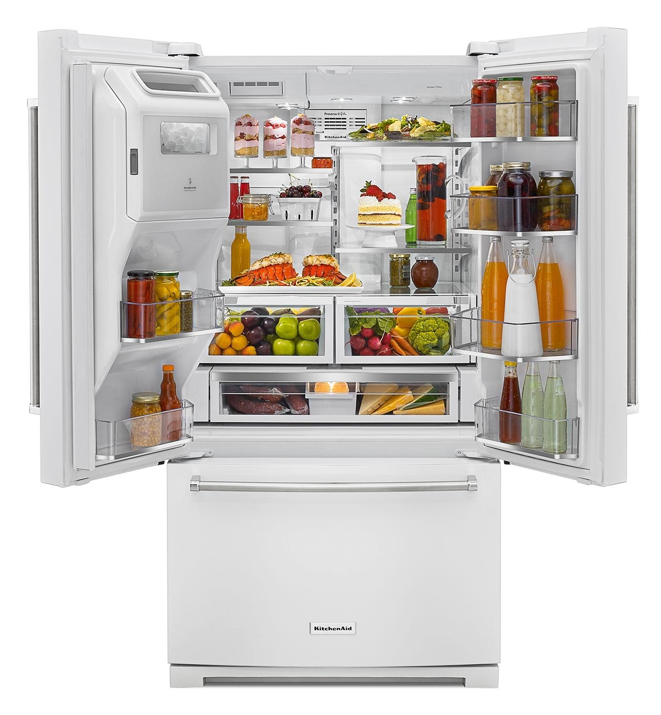 KitchenAid White French Door Refrigerator 26 8 Cu Ft
