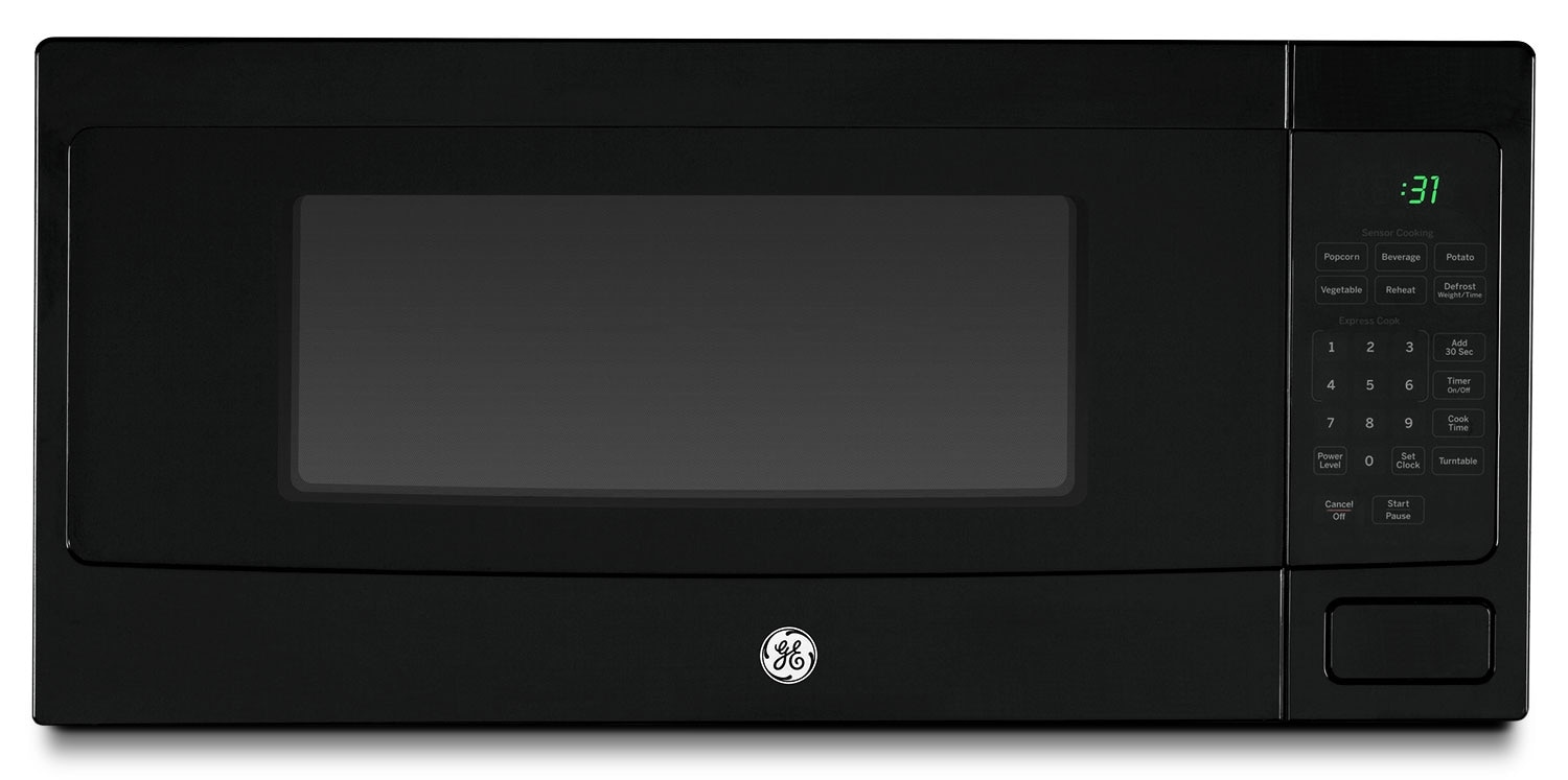 GE 1.1 Cu. Ft. Spacemaker Countertop Microwave – Black