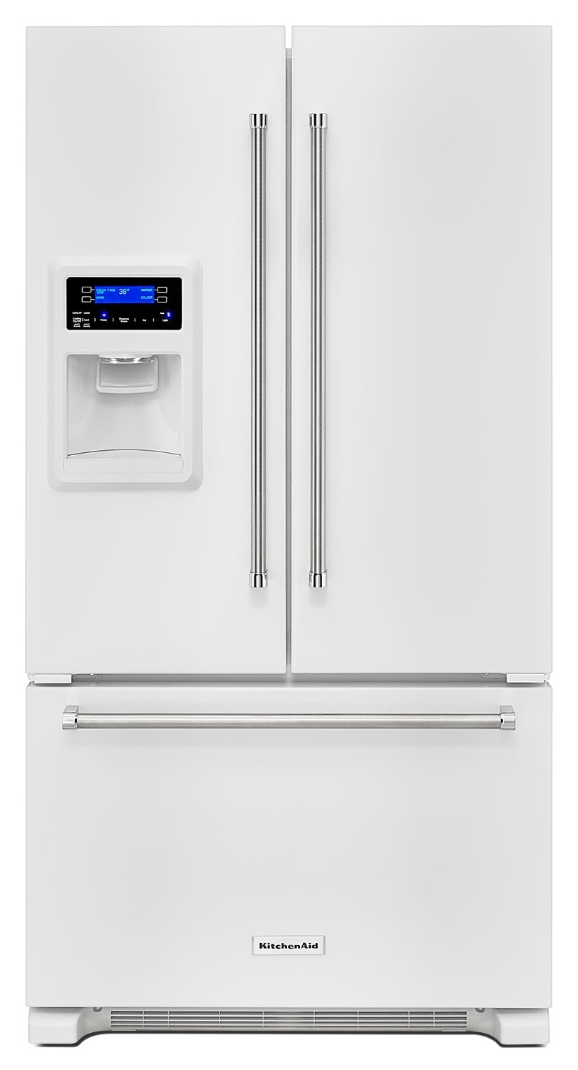 KitchenAid White French Door Refrigerator (20 Cu. Ft.) - KRFC400EWH