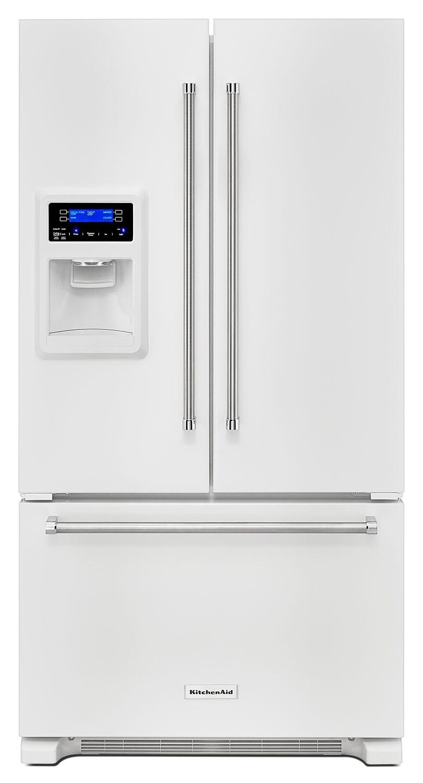 Refrigerators and Freezers - KitchenAid White French Door Refrigerator (20 Cu. Ft.) - KRFC400EWH