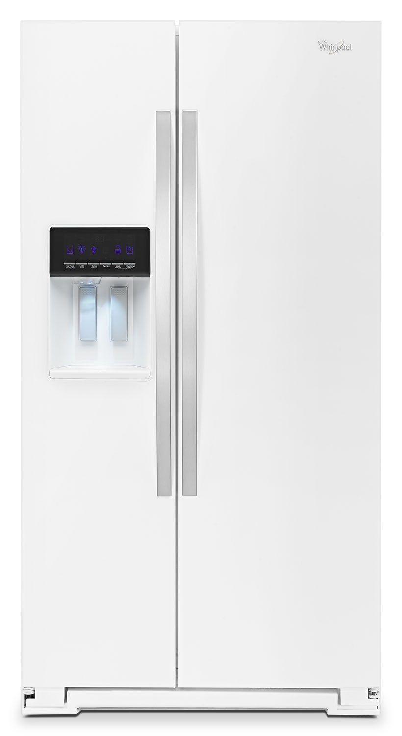Refrigerators and Freezers - Whirlpool 26 Cu. Ft. Side-by-Side Refrigerator – White Ice