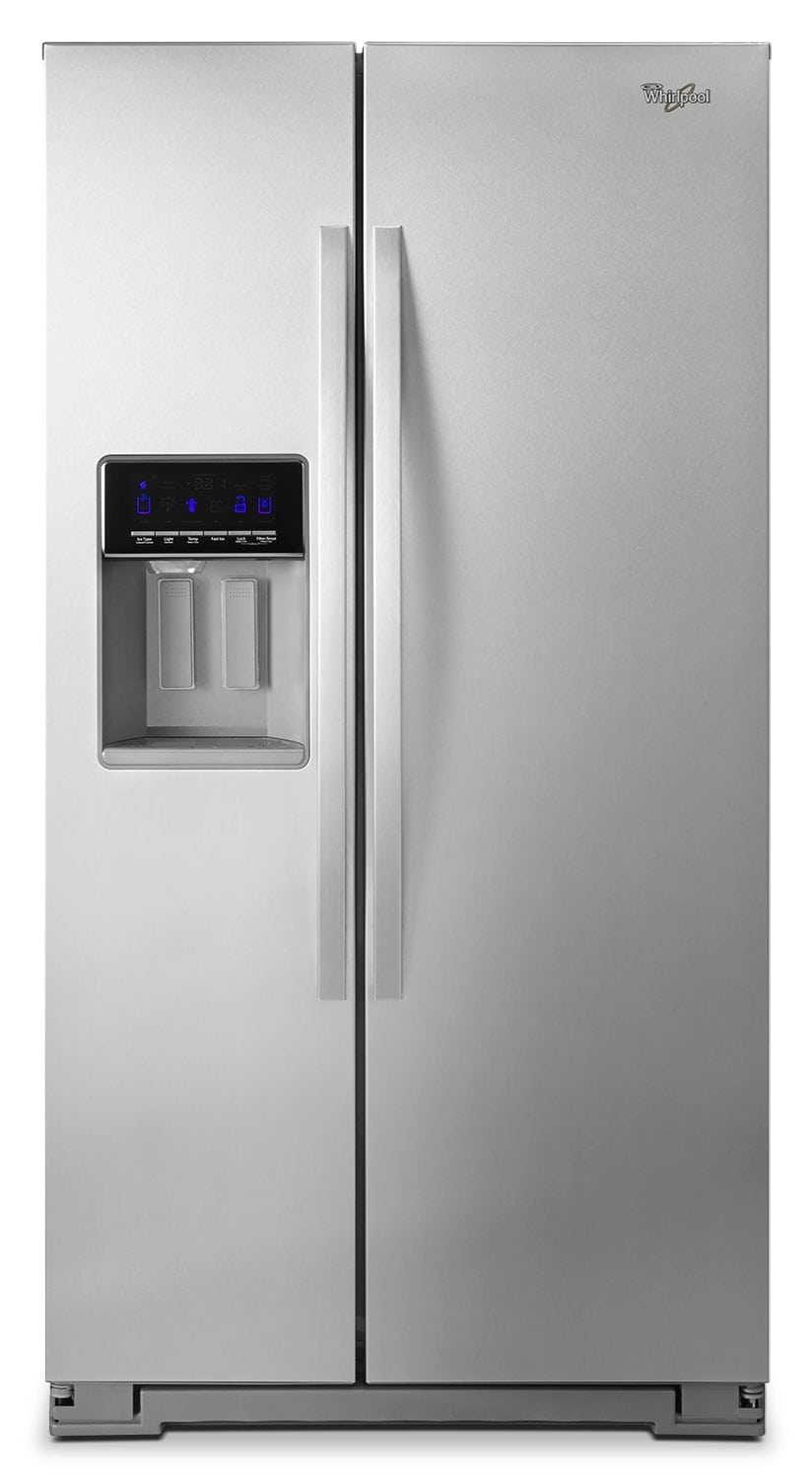 Refrigerators and Freezers - Whirlpool 26 Cu. Ft. Side-by-Side Refrigerator – Stainless Steel