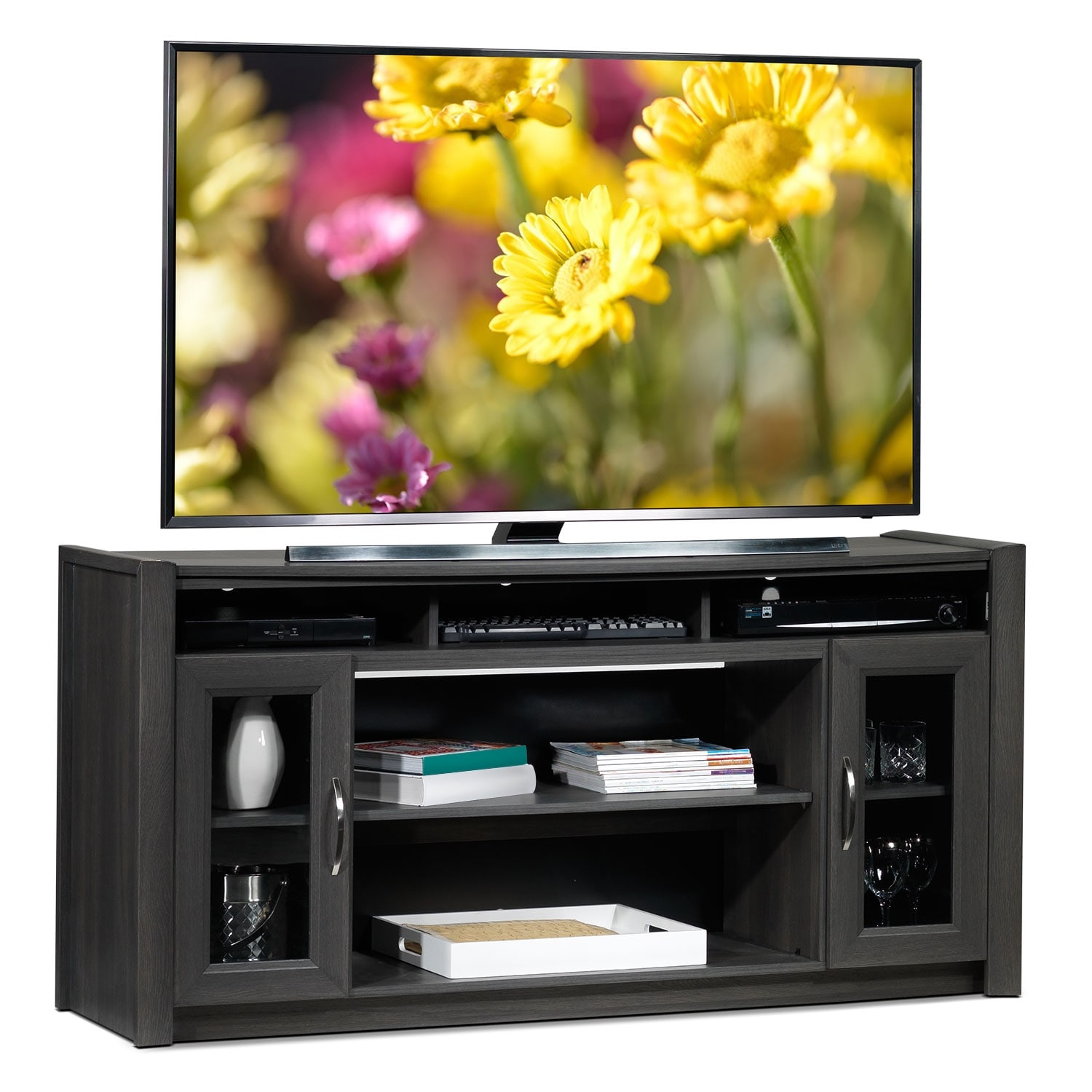 Entertainment Furniture - Gallagher TV Stand - Grey