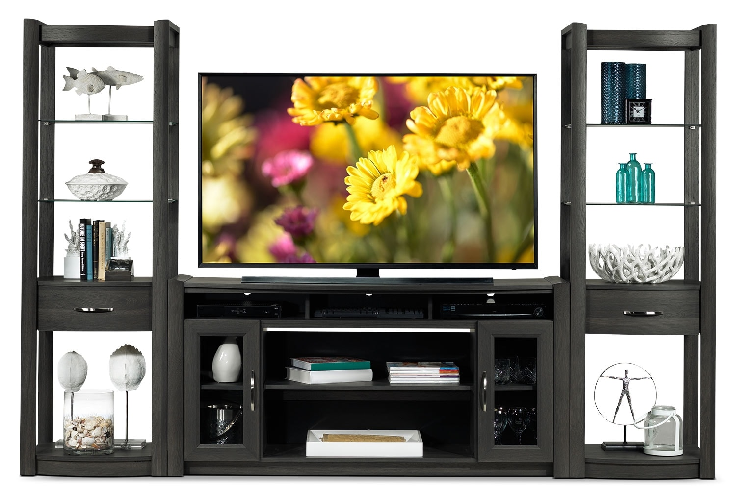 Entertainment Furniture - Gallagher 3 Pc. Entertainment Wall Unit